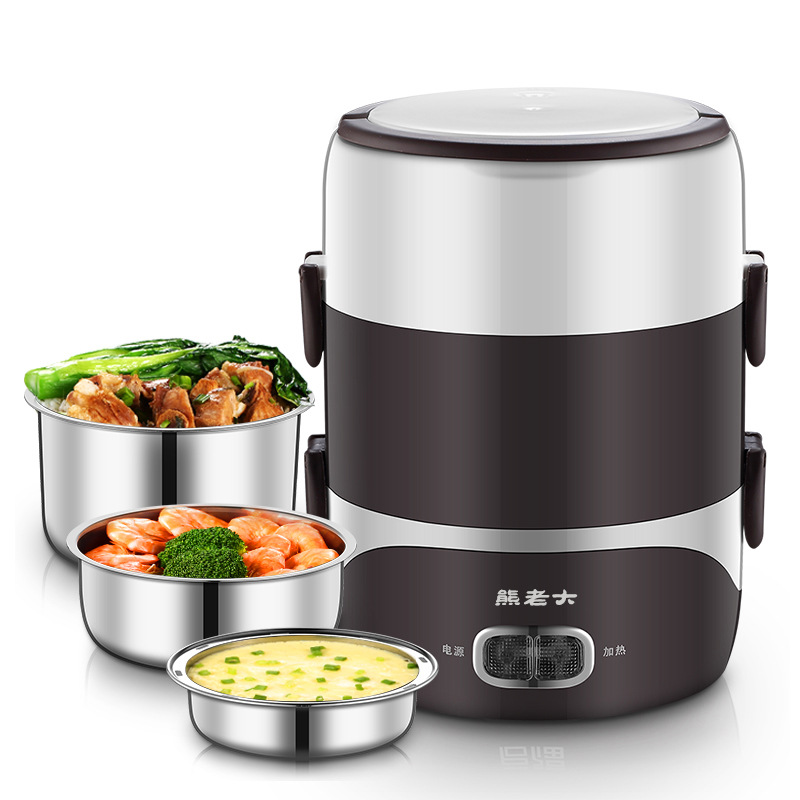 Slow Cooker Food Pan  Electric Skillet  Mini Electric Pot Heating Lunch Box Free Shipping Heater Steam  Electric Multi Cooker