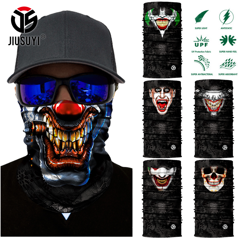 Magic Headwear Horror Ghost Outdoor Scarf Headbands Bandana Mask Neck Gaiter Head Wrap Mask Sweatband