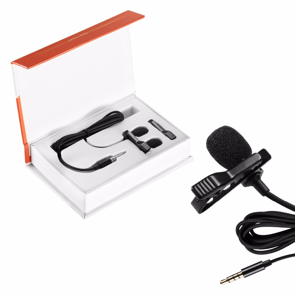 Neewer Micrófono de solapa de 3.5 mm Clip-on Mic condensador omnidireccional para Apple iPhone 7 plus 6S 6 5S 5, iPad, iPod Touch
