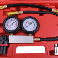 Professional Automobile Cylinder Leak Tester Compression Leakage Detector Kit Set Car Petrol Engine Gauge Tool Sets