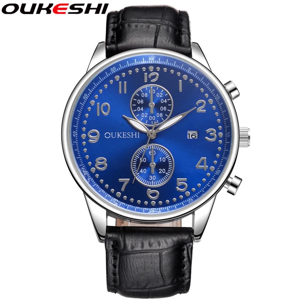 2017 OUKESHI Brand Men Watches Top Brand Luxury Famous Wrist Watch Business Male Clock Quartz Watch Relogio Masculino OKS02