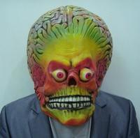 Aanvallen Martian Soldie Halloween Masker Volledige Hoofd Latex Scary Alien Brain Party Masker UFO Mars Cosplay Kostuum Props