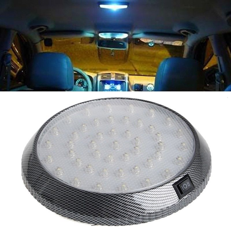 Replacement White DC12V 46 LED Car Vehicle Interior Roof Ceiling Dome Light Round Lamp in Signal Lamp from Automobiles Motorcycles