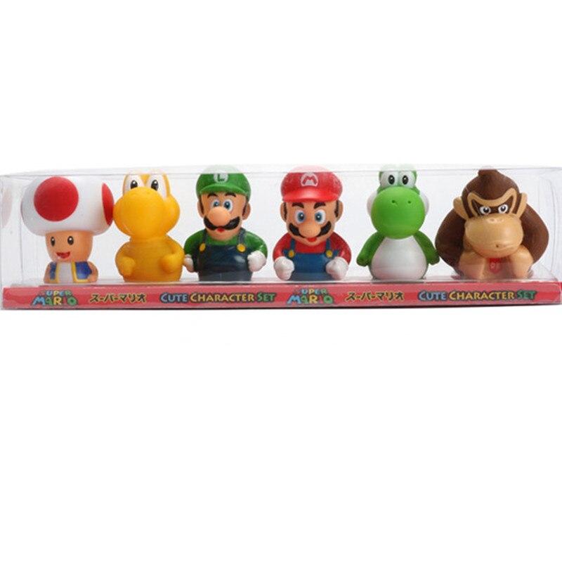 Aliexpress.com : Buy 6pcs/set Super Mario Bros Luigi Mario Yoshi ...