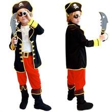 24 часа день рождения Дети Мальчики пиратский костюм для костюмированных игр комплект для детей Рождество год вечерние детские маскарадные платья