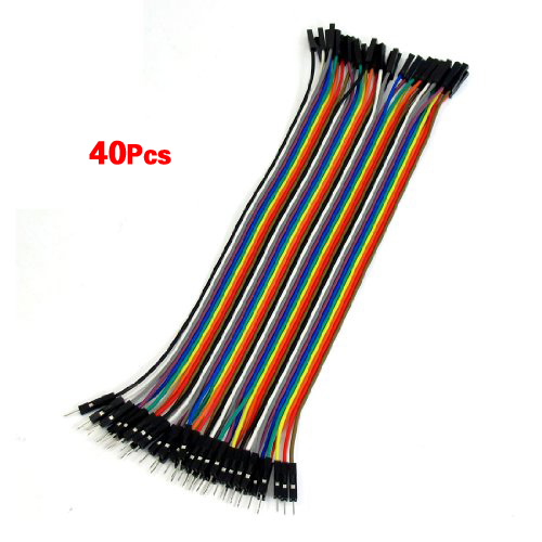 Promotion! Hot Sale! 40 Pcs Colorful 1 Pin Male to Female Jumper Cable Wires 20cm Long 40pcs in row dupont cable 20cm 2 54mm 1pin 1p 1p female to male jumper wire for
