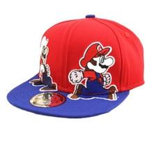 ALLKPOPER Fashion Unisex Cartoon Children Super Mario Cartoon Kids Baseball Cap Boys Girls Hip-Hop Hats Fit 3-7 Years