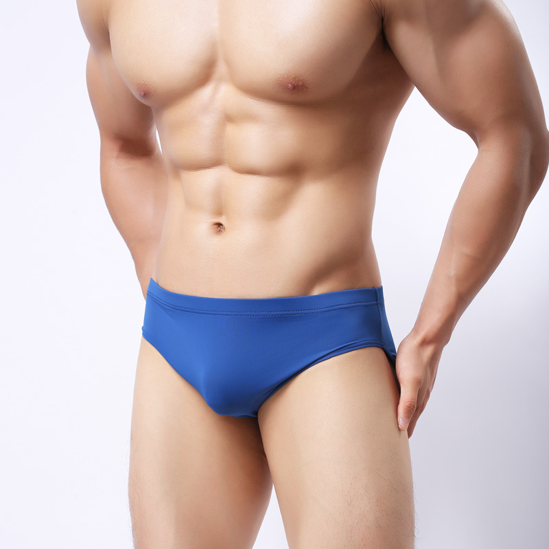 Buy Men's sexy underwear low waisted briefs seemless breathable male underpants