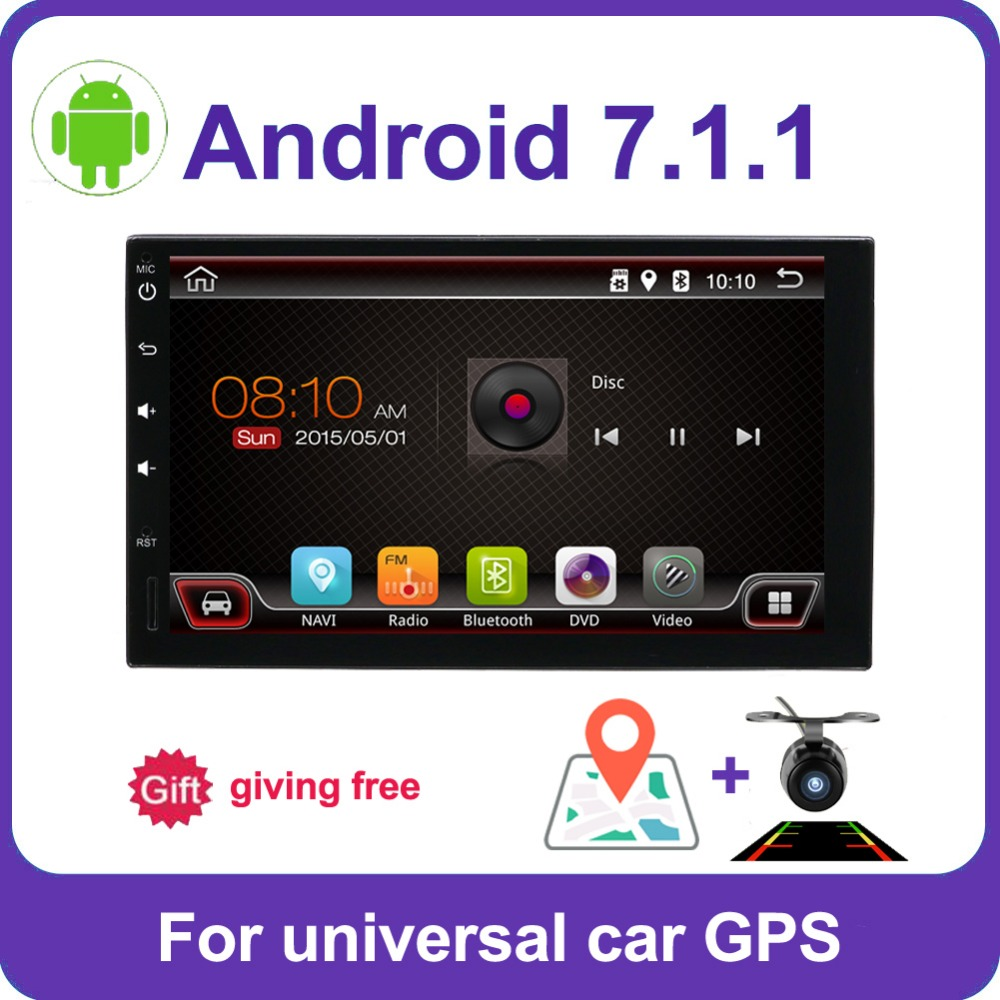 2 din car radio gps android car stereo cassette player recorder Radio Tuner GPS Navigation RDS support steering wheel control