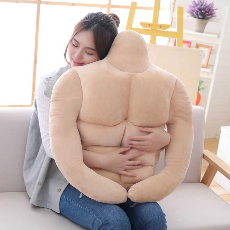65 cm Moda Yeni Kas Adam peluş oyuncak Yastık Erkek Arkadaşı Dolması Oyuncaklar Peluş Bebek Kız Arkadaşı & #39 s En Iyi Tatil doğum günü hediyesi