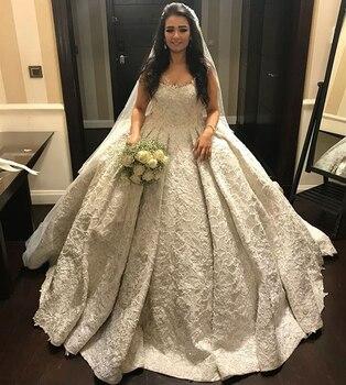 67f133ef3 Vestidos de novia 2018 nuevo vestido de boda largo elegante novia sin  mangas balón vestido de tren capilla Appliques Tulle Vestidos de novia
