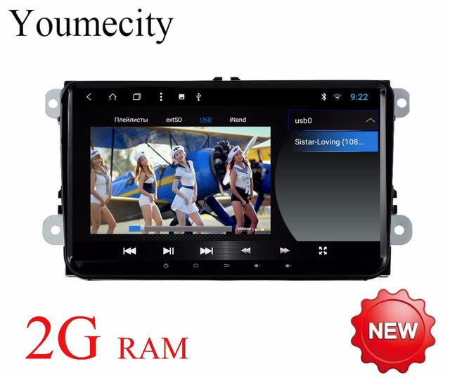 Android 8.1 Car DVD GPS Video player Navigation Radio for VW Bora EOS Amarok Caddy TOURAN Scirocco Sharan Seat head-unit 2G RAM