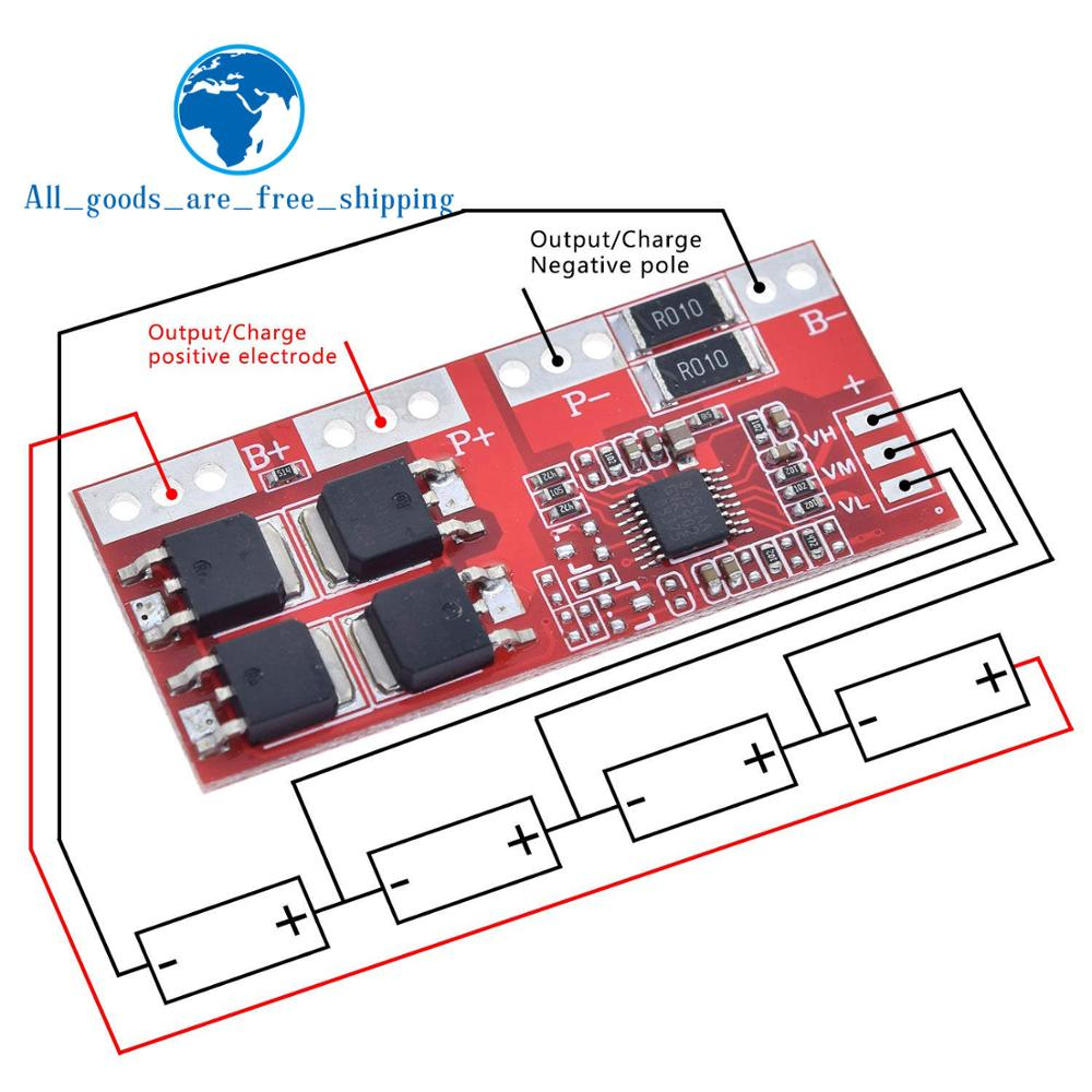 Smart Electronics 4S 30A High Current Li-ion Lithium Battery 18650 Charger Protection Board 14.4V 14.8V 16.8V Overcharge(China)