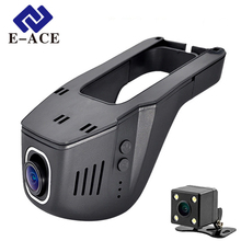 E-ACE Nascosta Mini Macchina Fotografica di Wifi Auto Dual Lens Dvr Auto Video Recorder Dashcam Registrator Dvr Dash Cam Full HD 1080 P Nigh Vision