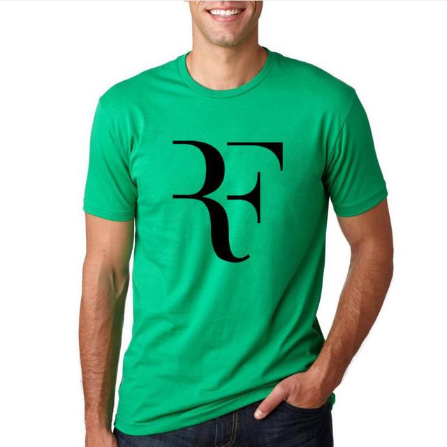 2017 Summer Men Fashion RF Perfect Letters Design T shirt Roger Federer Short Sleeve T-shirts O-Neck Streetwear Tees HipHop Tops