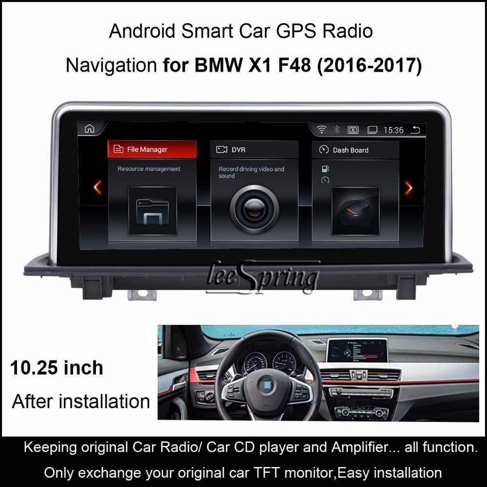 "10.25""Touch Android 4.4 Car GPS Navigation for BMW X1 F48 (2016 2017) Radio  Audio Stereo MP5 Player Bluetooth WiFi Mirrorlink-in Car Multimedia Player  from ..."