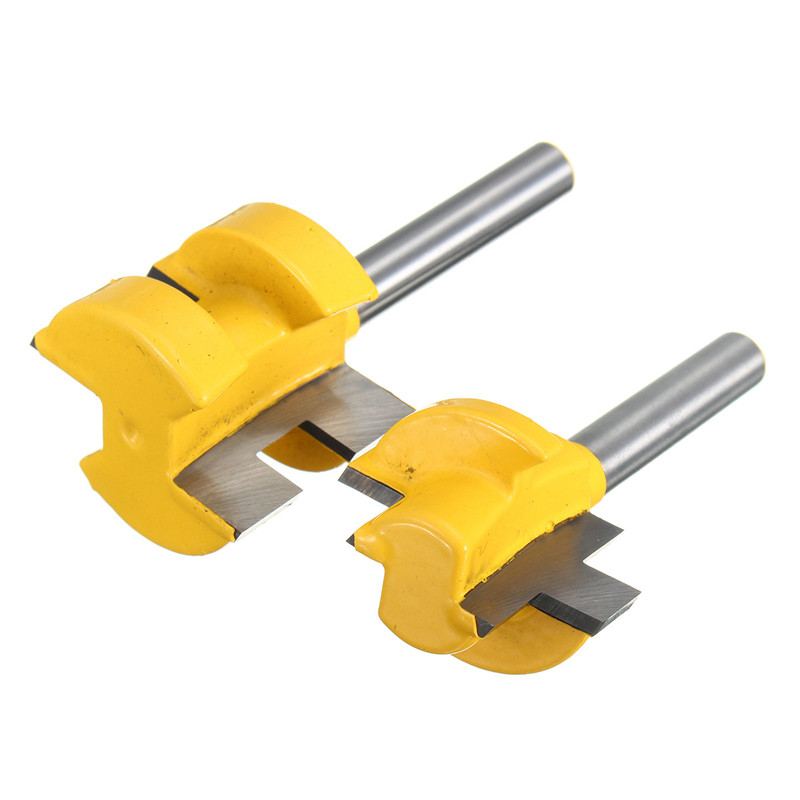 2Pcs/Set 1/4 Inch Shank Tongue Groove Router Bit +1/4 Shank Groove router bit Wood Woodworking Cutting Tools 2pcs 1 4 shank tongue