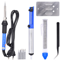 Newest 60W 110V Electric Soldering Iron Kit Adjustable Temperature Welding Starter Tool 23x18x4cm