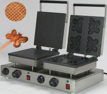 Commercial  Electric double baker butterfly shaped  waffle maker
