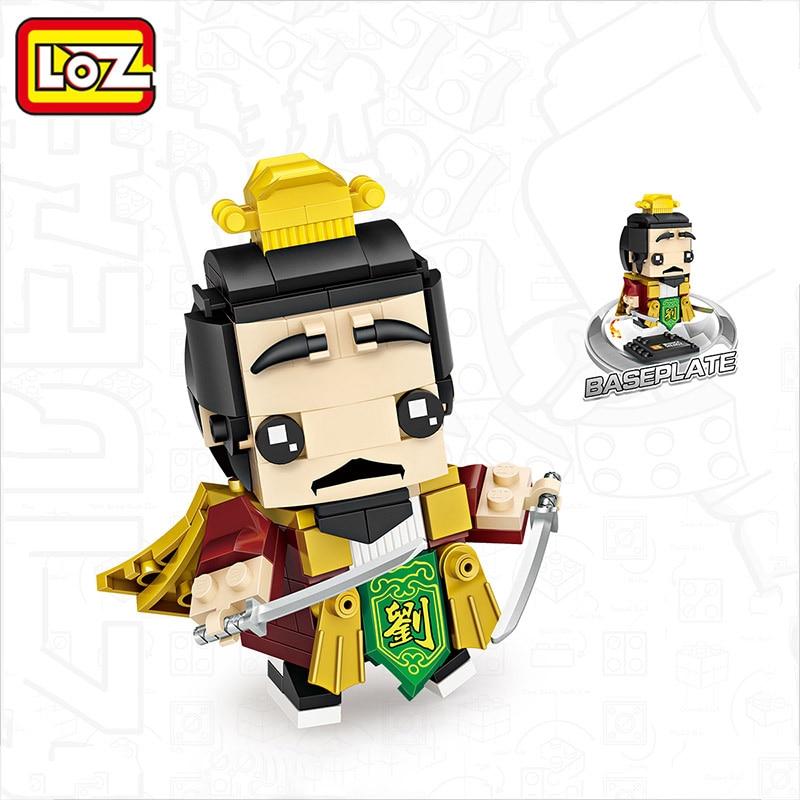 LOZ Mini Liubei Marvel Head Figure Toys for Children Self- Locking Bricks Intelligence Models Building Blocks Cute Playmobil