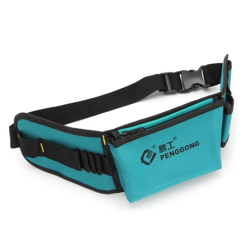 1Pc Multifunctional Power Tools Waist Bag Oxford Waterproof Pocket Kit With Belt
