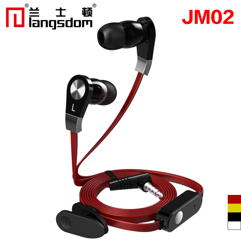 Original Langsdom JM02 In ear Earphone stereo Headset HI FI bass 3 colors with micphone For