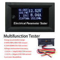 Multifunctional OLED voltmeter Ammeter power meter Thermometer timer Battery capacity tester DC 33/110V 3/10A Power Supply