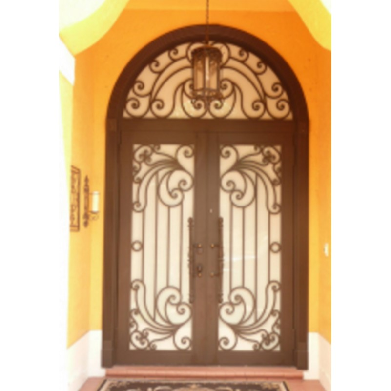 Metal Glass Double Entry Doors Luxury Double Entry Doors Arched Double Entry Doors Hc-ird23
