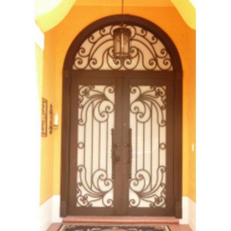 Metal Glass Double Entry Doors Luxury Double Entry Doors Arched Double Entry Doors Hc-ird23