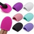 Hot 6 colores Brushegg limpieza lavado de maquillaje cepillo de sílice Glove Scrubber cosméticos herramientas limpias envío gratis belleza hecha a