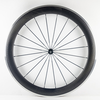 A pair dimple surface 60mm alloy brake surface carbon wheels dimple wheel 23mm width bicycle carbon wheelset