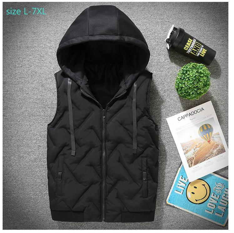 Mètres Gilet Paeede Zipper Large veste Nouvelle Casual Extra Arrivée Plus Hommes red balck Lâche Taille Male La Mode Mlxl2xl3xl4xl5xl6xl7xl Gray 4q8t0xwv