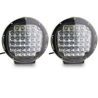 TURBO SII Pair 9 Inch Round 96W Intensity Led Spot Light For Offroad 4wd 4x4 Pickup