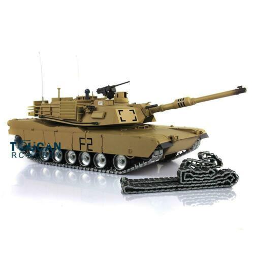 Henglong 1/16 echelle TK 6.0S personnaliser Abrams RC Tank 3918 360 tourelle canon recul TH12946
