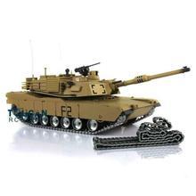 Henglong Escala 1/16 TK 6,0 S, personalizado, tanque Abrams RC 3918 360, torreta, retroceso del barril, TH12946