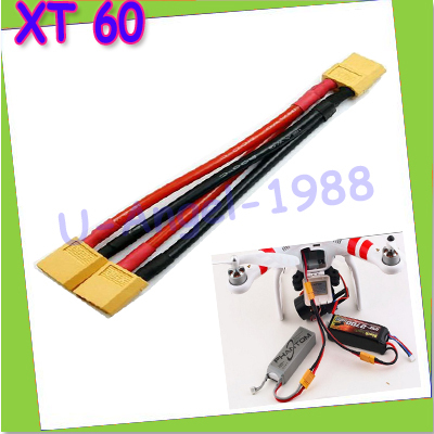 1pcs Xt60 Parallel Battery Connector Cable Dual Extension Y Splitter Silicone Wire in Parts Accessories from Toys Hobbies
