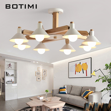 BOTIMI Designer LED Ceiling Lights For Living Room Modern Ceiling Lamps E27 Bulbs Home Lighting Fixtures White Black Room Lamps