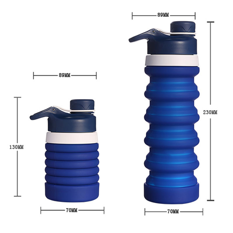 Creative Water Bottle Portable Spiral Retractable Foldable Outdoor Travel Tool Collapsible Sport Silicone Bottles Botellas