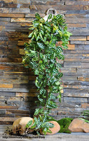 Home Hanging Rattan White Net leaf vines artificial Plant White WallFlower Home decos