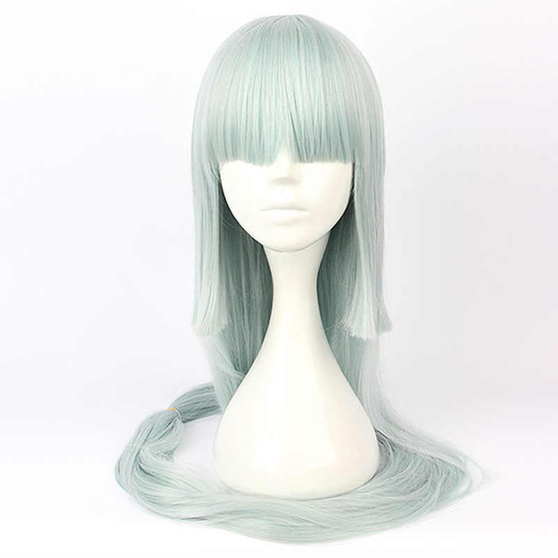 140cm Light Green Long Wavy Anime Women Cosplay Synthetic Wig + Ponytail Demand Exceeding Supply