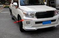 Paraurti cromato Anteriore + Posteriore guardia Angolo di Copertura Trim 4 PZ Per Toyota Land Cruiser LC200 2008-2015
