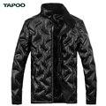 Waterproof Winter Jacket Zipper Man Black Warm Duck Down Jackets England Style TAPOO Original Brand Outwear Fashion Coat For Men