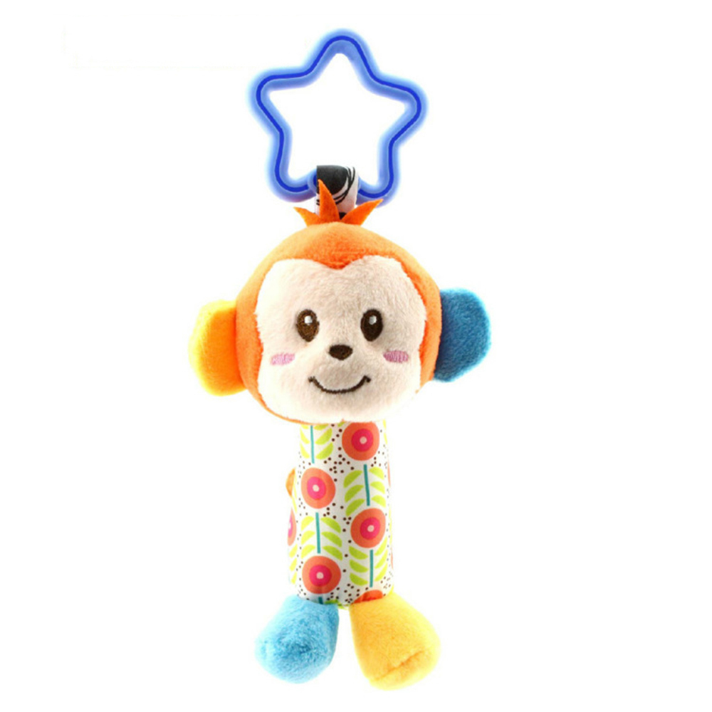 Cute Baby musical stroller bendy Toys for children 0-12 months Soft Born Animal Plush Doll Game