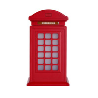 Mini British Style Telephone Booth Air Humidifier 300ml Classic Mist Maker USB LED Night Diffuser Air