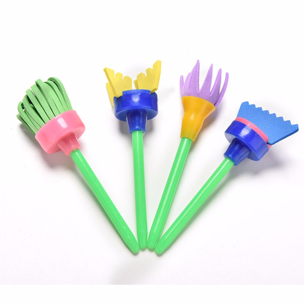 Uncategorized Kids Drawing Tools aliexpress com buy 4pcslot creative flower drawing stamp sponge brush set art supplies for kids diy painting tools to