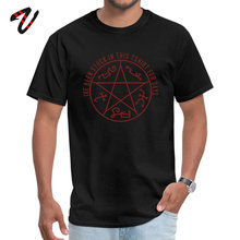 Slenderman Student Short General Devils Trap T-Shirt Printed On Tops T Shirt Oversized Unique O-Neck Tee-Shirt Top Quality