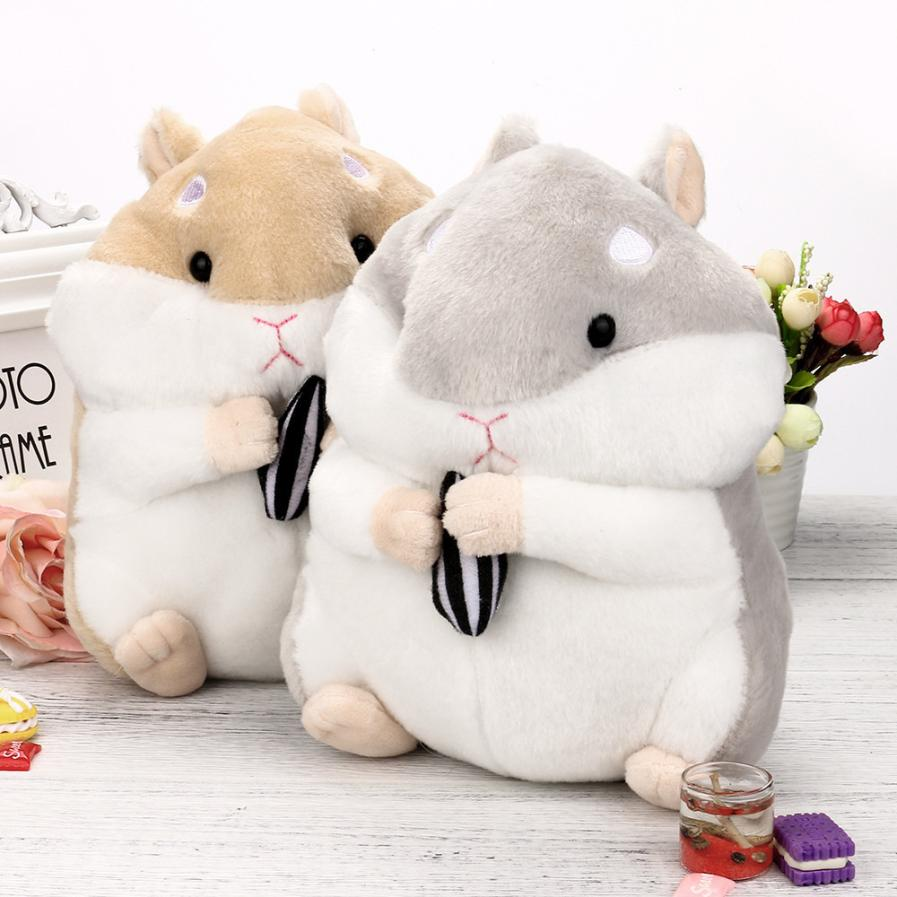 23CM Adorable Kawaii Fluffy Hamster Soft Plush Toy Doll Cute Stuffed Toy Gifts 5.31