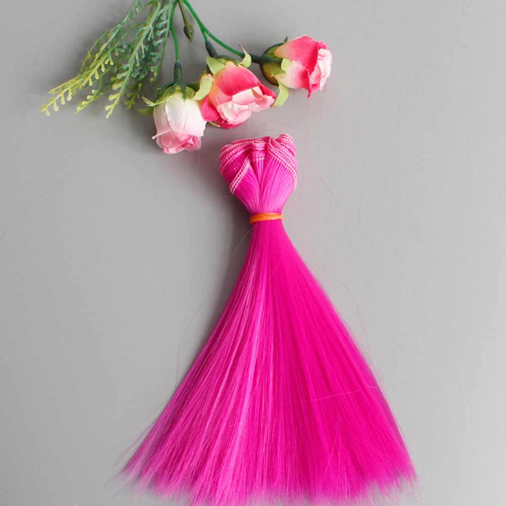 1 Uds. Peluca de muñeca princesa accesorios de moda 15X106Cm pelo liso al por mayor para DIY BJD Peluca de muñeca desarrollar inteligencia 40 #