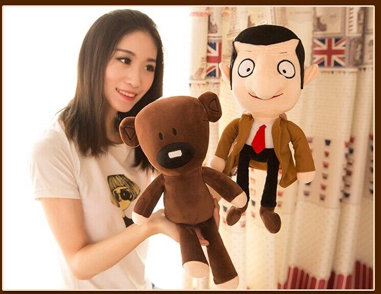 1 шт. 30 м 40 см Мистер Бин Мишка стильная футболка с изображением персонажей видеоигр плюшевые куклы Забавный Новинка Творческий мягкая игруш...