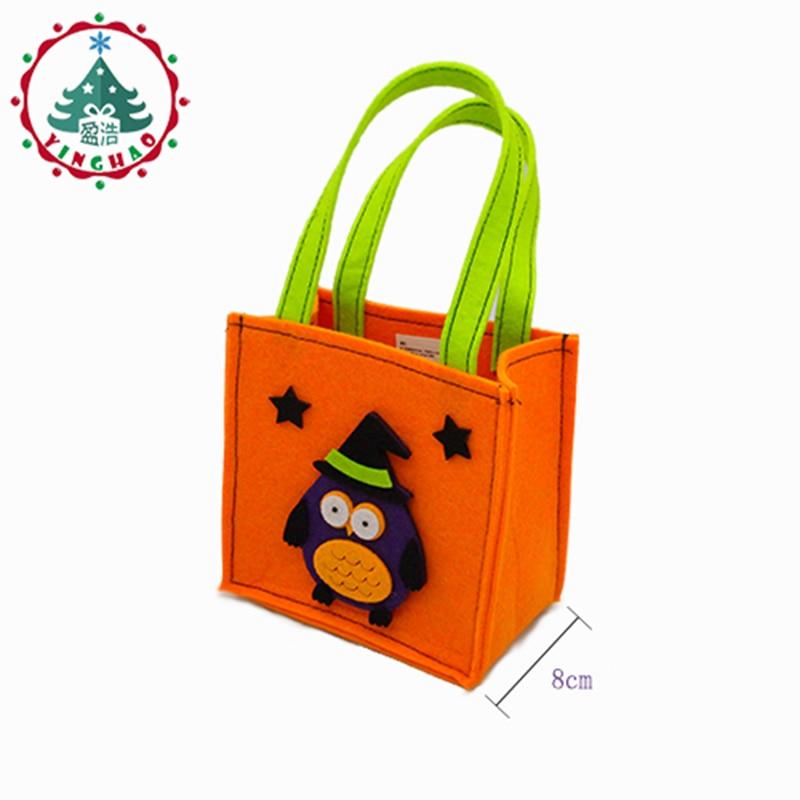 inhove ugle græskar farve taske børn taskebørn børn halloween - Varer til ferie og fester - Foto 3